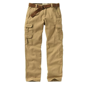 Men's Athletic-Fit Cargo Belted Pants
