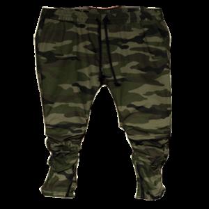 Men's Olive CAMO Twill Drop Crotch Pants