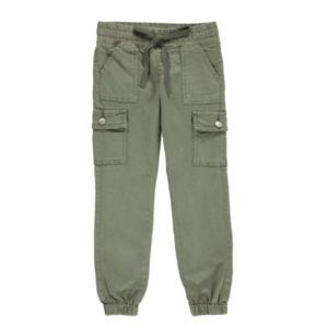 Girls' Skinny Distressed Twill Cargo Jogger