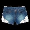 Girl's denim Lace Design Shorts
