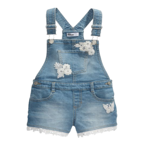 Girl's Lace Design Denim Short all