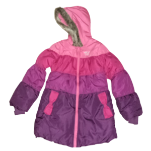 Girl's Color Blocked Quilting Hoodie Jacket