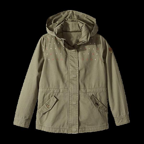 Girl's Twill Hoodie Jacket