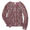 Women's Long Sleeve Crew-Neck Ripped Pullover Knit Sweater