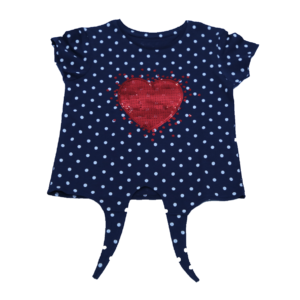 Girl's Love Printed T-Shirt