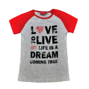 Girl's Color Block Printed T-Shirt