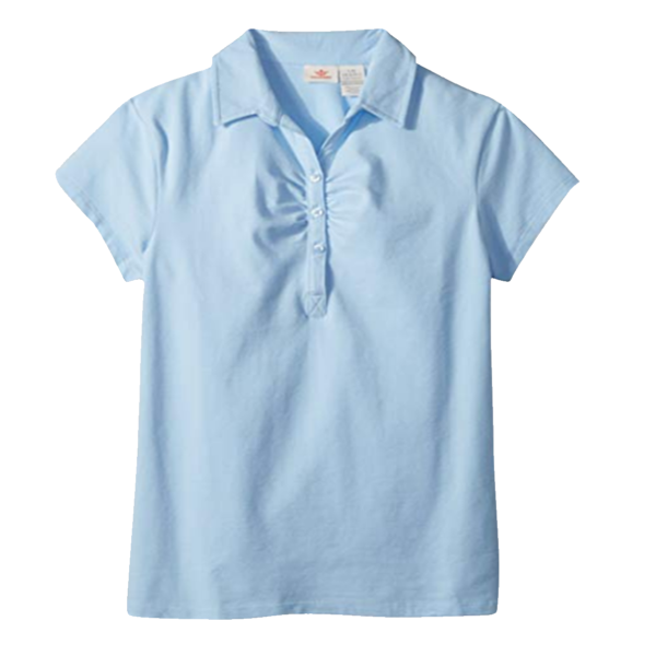 Girl's Solid Knit Polo