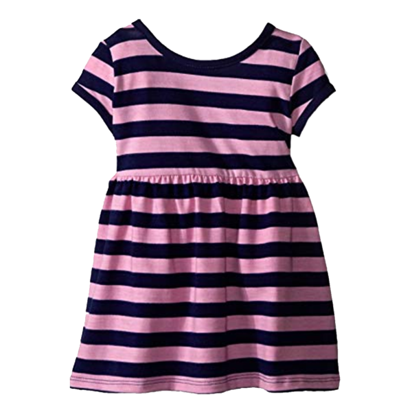 Girl's Striped Knitted Dress