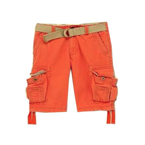 Men's Belted Canvas Cargo Shorts