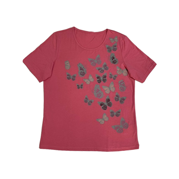 Women's Butterfly Printed T-Shirt