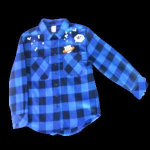 Girl's Long Sleeve Flannel Shirt
