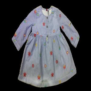 Girl's Long Sleeve Printed Dress