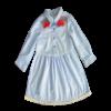 Girl's Long Sleeve Embroidery Dress