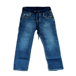 Boy's Rib Waist Draw Cord Denim Jogger