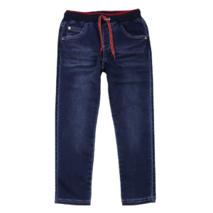 Boy's Rib Waist Draw Cord Denim Pant