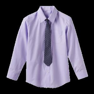 Boy's Long Sleeve Tie Shirt